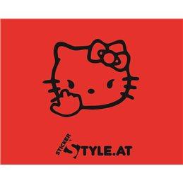 Hello Kitty Mittelfinger
