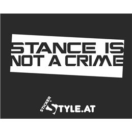 Stance Is No A Crime