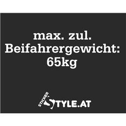 Max. zul. Beifahrergewicht
