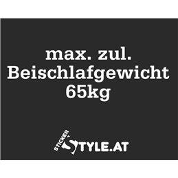 Max. zul. Beischlafgewicht