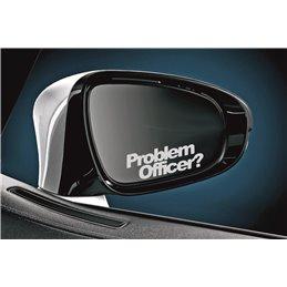 Problem Officer Spiegel Aufkleber