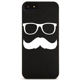 Moustache mit Brille 2 Handyaufkleber