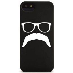 Moustache mit Brille 4 Handyaufkleber