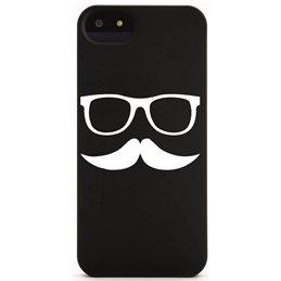 Moustache mit Brille 5 Handyaufkleber