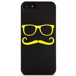 Moustache mit Brille 9 Handyaufkleber