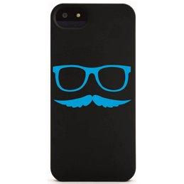 Moustache mit Brille 11 Handyaufkleber
