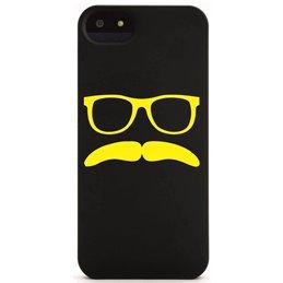 Moustache mit Brille 13 Handyaufkleber