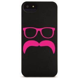 Moustache mit Brille 15 Handyaufkleber